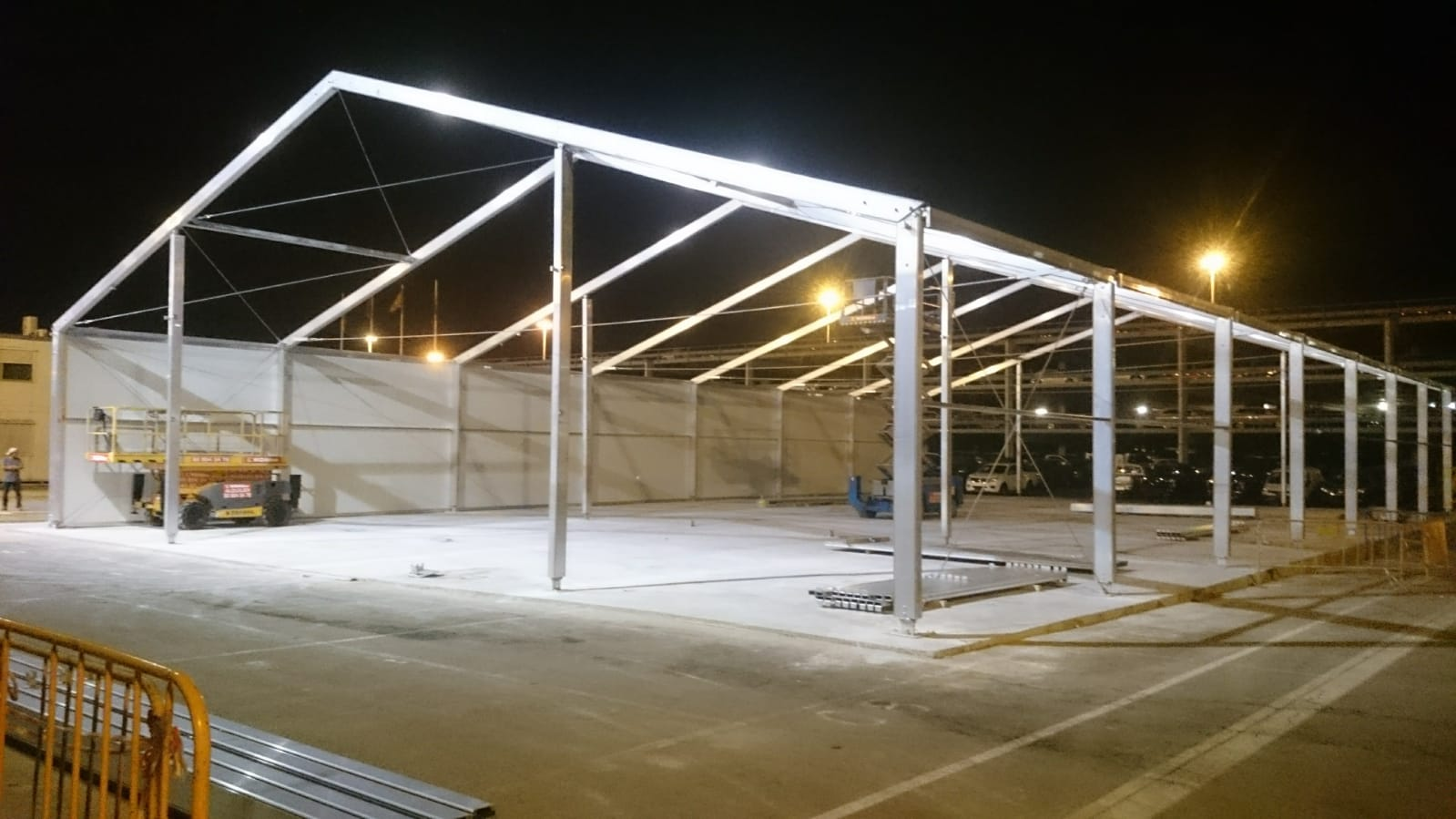 carpa de 20 industrail panel y lona 4